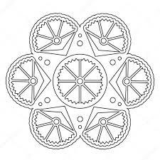 Eenvoudig Bloemen Mandala Kleurplaten Stockvector Ingasmk