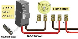 how to install and troubleshoot gfci double pole circuit breaker wiring diagram gfci 2 pole breaker larger image