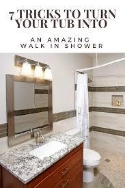 small bathroom convert bathtub into walk in shower