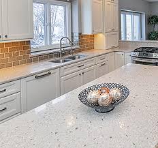 glossy and textured quartz countertops