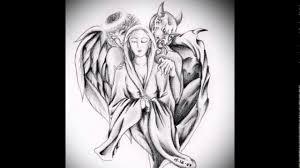 тату ангелы и демоны эскизы рисунки для татуировки ангел и демон