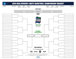 Ncaa Tournament Bracket Scores Ncaa Bracket 2019 Printable March Madness Tournament Bracket Pdf