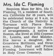 Ida Fleming Obituary - Newspapers.com