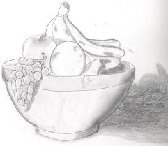 fruit bowl drawing with shading. Delighful Drawing SaveEnlarge  Drawn Basket Shading  On Fruit Bowl Drawing With T