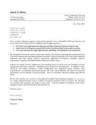 Sample For Cover Letter For Job Software Engineer Cover Letter