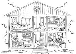 Small Picture Coloring page house interior img 25995