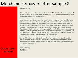 Visual Merchandiser Cover Letters How To Write Cover Letter For Merchandiser