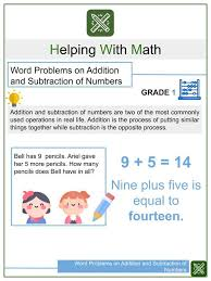 Print our ninth grade (grade 9) math worksheets and activities, or administer them as online tests. Addition And Subtraction Word Problems 14 Types Helping With Math