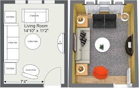 Small Living Room Layouts - 2D and 3D Floor Plans