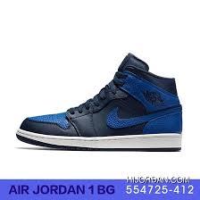 Air Jordan 1 Aj1 Women Shoes Gs Basketball Shoes 554725 412 Copuon