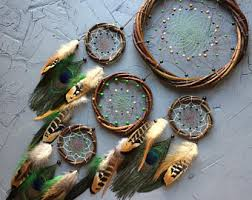 Dream Catcher Without Feathers Peacock dreamcatcher Etsy 60