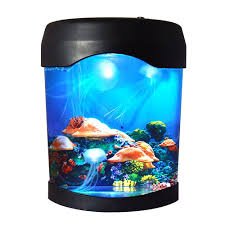 Led Jellyfish Lava Lamp Usb Jellyfish Lamp Electric Aquarium Tank Mood Night Light With Color Changing For Home Bedroom Background Decoration