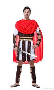 Gladiator Movie Costume Design Shanghai Story Adult Men Ancient Roman Warrior Costume Spartan Gladiator Soldier Costumes Carnival Purim Halloween Cosplay Funny Halloween Group