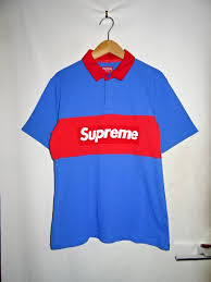 the supreme シュプリーム 16ss s s rugby rugby shirt blue red size s brand old clothes daimyo company