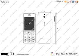 Nokia 515 vector drawing