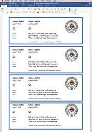 Create Tickets In Word Create Printable Raffle Tickets In Word Work Raffle