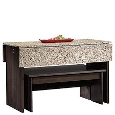 beginnings table with benches cinnamon cherry d