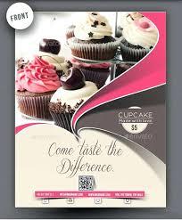 Cupcake Flyer Templates Free Menu Template Bakery Pamphlet Sample