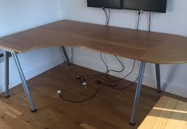 ikea galant beech left hand corner desk