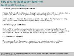 4 tips to write application letter for sales clerk sales clerk jobs