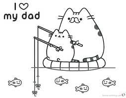 Coloring Pages Pusheen Coloring Pages How And Mermaid Pusheen