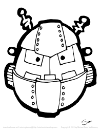 Small Picture Robot Mask Template Mrprintables Masksjpg Coloring Pages