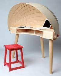 Office Pinterest Unique Desks Privacy Resemble Seashells Form Modern  Minimalist Cool Interior Design Plywood Furnitures
