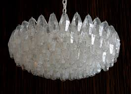 carlo scarpa for venini polyhedral chandelier