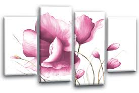 fl wall art picture pink white grey