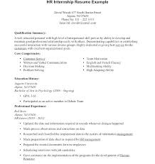 Resume Examples For College Students With No Experience Adorable College Internship Resume Sample Intern Doc Samples For Hr With No