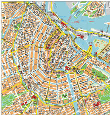 amsterdam city tourist map  amsterdam • mappery