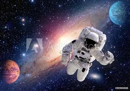 Fotografie Obraz Astronaut Kosmonaut Ve Vesmíru Sluneční Soustavy