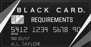 Visa Black Card Requirements And 5 Other High Limit Cards
