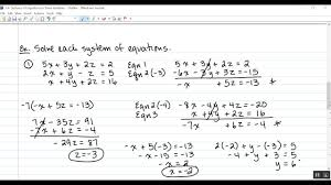 3 4 solving systems of equations in three variables you