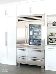 sub zero counter depth refrigerator best refrigerators cabinet panels images on glass front used inch built main feature sub zero glass front refrigerator