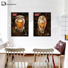 Us 269 50 Offtrinken Bier Lustige Poster Kunst Minimalistischen Leinwand Malerei Wand Bild Drucken Esszimmer Bar Zimmer Club Dekoration 391 In