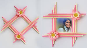 make awesome photo frame with paper sticks diy paper photo frame making easy tutorial