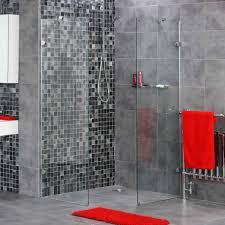 Dark Red Bathroom Doorless Walk In Shower Designs Special And Tiles With Walk Then