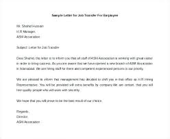 Letters Of Office Job Transfer Request Letter Sample Free Awesome For Work Example Awe