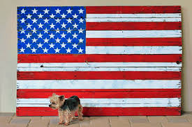 on painted wood american flag wall art with diy reclaimed wood american flag