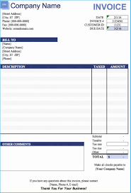 excel bill invoice template in excel 2007 4642
