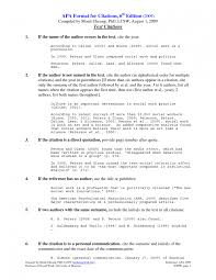 Ideas Of Reference List Format Apa 6th Edition Apa 6th Edition