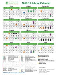 School Calendar 2015 16 Printable School Year Calendar 2018 19 School Year Calendar