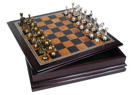 Board Games In Wooden Box Amazon Metal Chess Set With Deluxe Wood Board and Storage 91