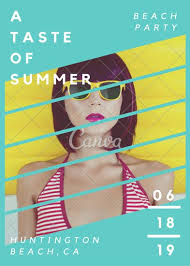 Beach Flyer A Taste Of Summer Beach Party Flyer Templates By Canva