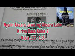 Check spelling or type a new query. Nyalin Aksara Jawa Ing Aksara Latin Kirtya Basa Kelas 8 Hal 133 135 Youtube