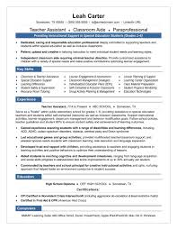 Resume Samples For Special Education Teachers Assistants Fresh