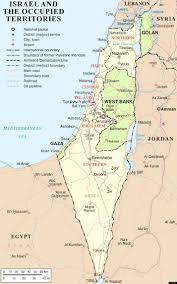 israel map the palestinian region's changing borders  huffpost
