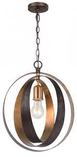 crystorama luna 1 light bronze gold sphere mini chandelier