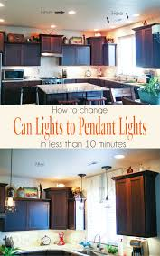 Change Can Lights To Pendant Lights In Less Than 10 Minutes